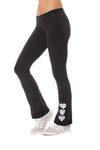 Hard Tail Forever - Roll Down Boot Leg 909 (330-909, Black w/White Hearts)