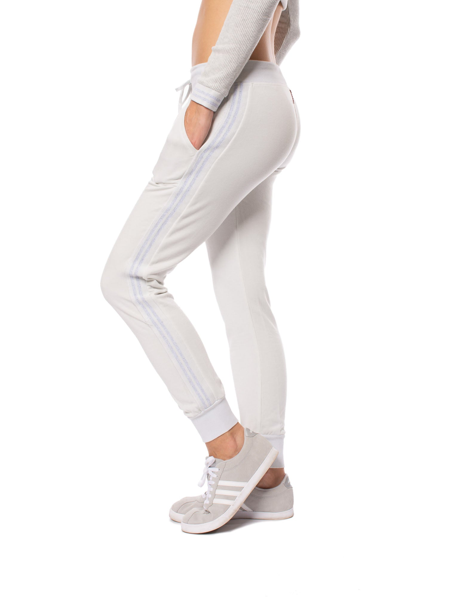 Hard Tail Forever - Sparkle Stripe Jogger (CLO-21, Frost)