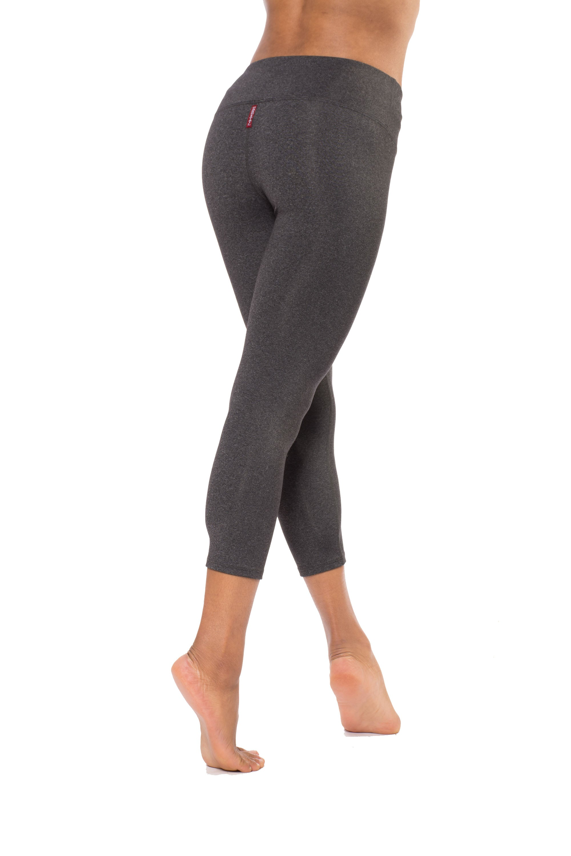 Supplex Flat Waist Capri (Style SUPCH-04, Charcoal) by Hard Tail Forever