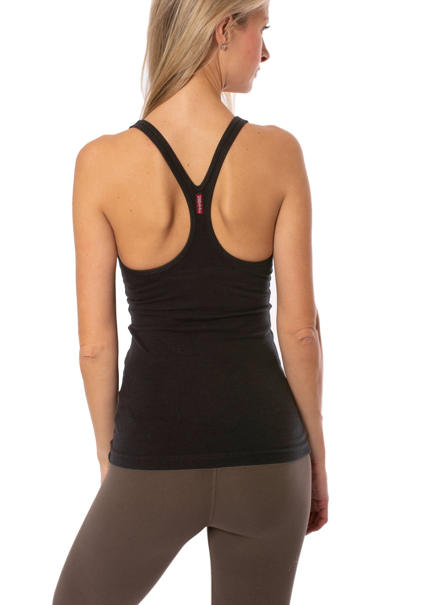 Hard Tail Forever - U Scoop Swimmers Tank (W-396, Black)