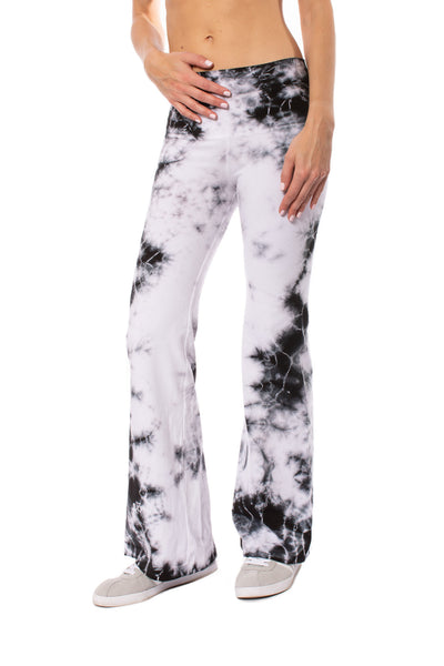 Hard Tail Forever - Hi Rise Flat Waist Flare (W-919 MOON 1, Tie-Dye Black & White Moonscape) alt view 1