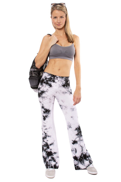 Hard Tail Forever - Hi Rise Flat Waist Flare (W-919 MOON 1, Tie-Dye Black & White Moonscape) alt view 7
