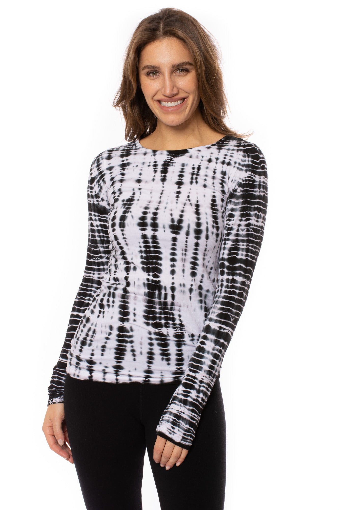 Hard Tail Forever - Supima/Lycra Long Sleeve Scoop Tee (SL-69, Tie-Dye AL1)