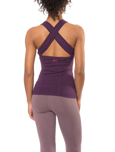 Open Back Tank (Style W-639, Concord Grape) by Hard Tail Forever
