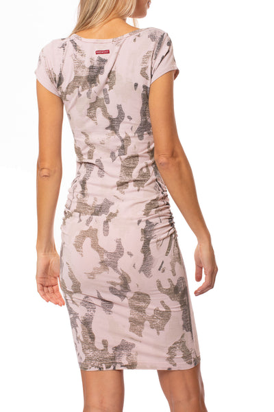 Hard Tail Forever - Sexy Cotton Lycra Ruched Camo Dress (SL-126, Camo Rose) alt view 2
