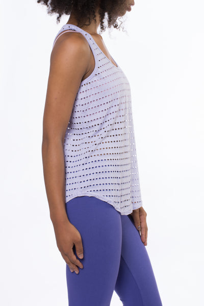 Holey Slouchy Tank (Style HOL-01, Violet) by Hard Tail Forever alt view 1