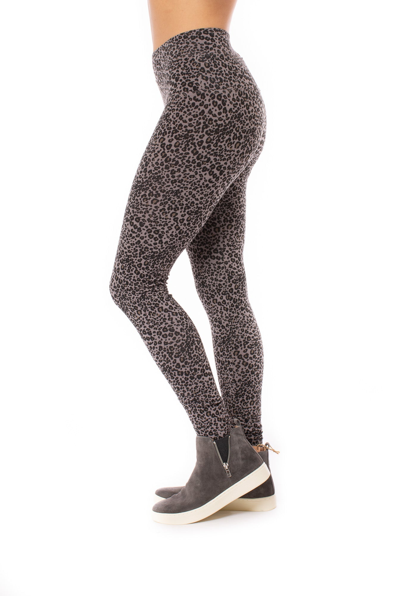 Hard Tail Forever - High Rise Ankle Legging Leopard Print (LW-566, Leopard Wood)