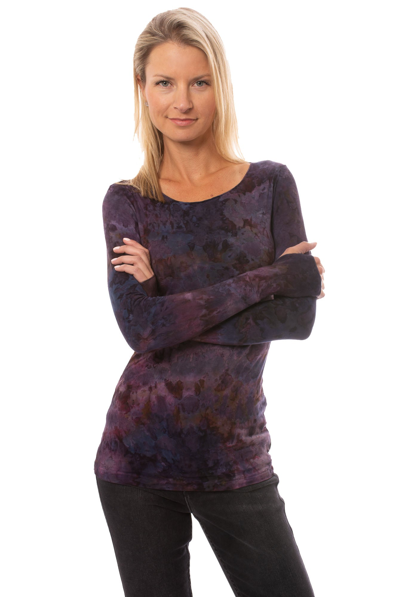 Hard Tail Forever - Long Sleeve Thumbhole (SL-143, Tie-Dye TLW2)