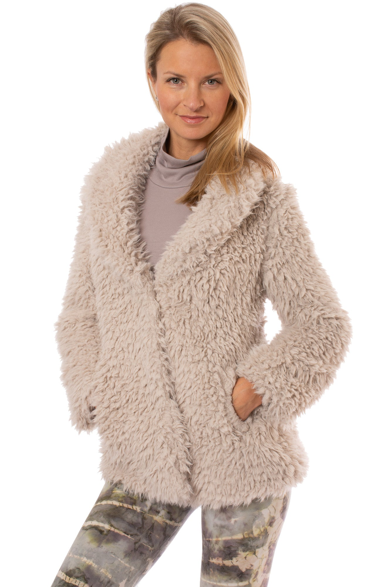 Tart Collections - Faux Sheep's Fur Tallulah Coat (T90945, Sheep Fur)