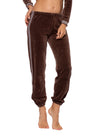 Sparkle Stripe Sweat Pants (Style V-172, Mocha) by Hard Tail Forever