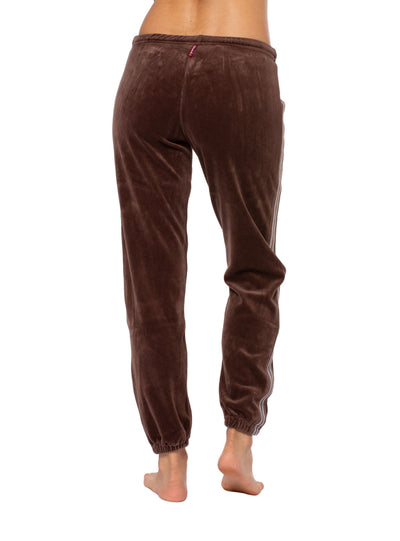 Sparkle Stripe Sweat Pants (Style V-172, Mocha) by Hard Tail Forever alt view 2