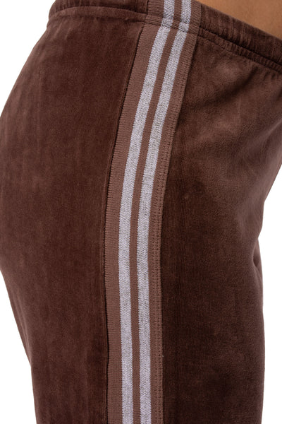 Sparkle Stripe Sweat Pants (Style V-172, Mocha) by Hard Tail Forever alt view 4