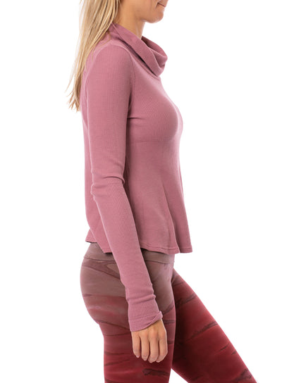 Hard Tail Forever - Thermal Long Sleeve Funnel Neck (TH-104, Dusty Rose) alt view 1