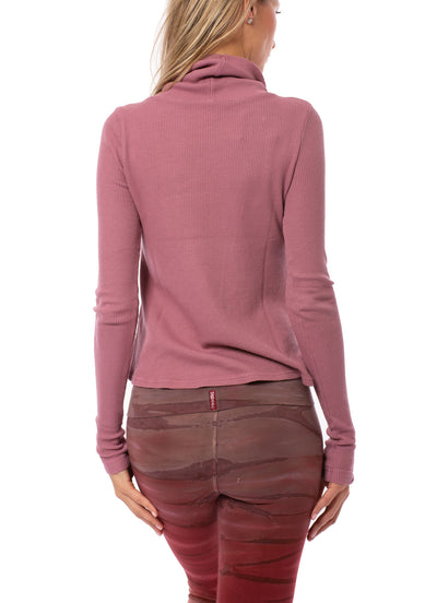 Hard Tail Forever - Thermal Long Sleeve Funnel Neck (TH-104, Dusty Rose) alt view 2