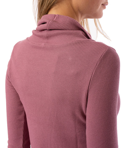 Hard Tail Forever - Thermal Long Sleeve Funnel Neck (TH-104, Dusty Rose) alt view 3