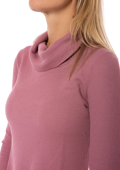 Hard Tail Forever - Thermal Long Sleeve Funnel Neck (TH-104, Dusty Rose) alt view 5