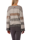 Hard Tail Forever - Raw Edge V Neck Bell Sleeve Sweatshirt (HSFT-01, Tie-Dye AND4) alt view 2