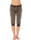 Hard Tail Forever - Fleece Capri Jogger W/Racer Stripe (CLO-16, Thyme) alt view 1