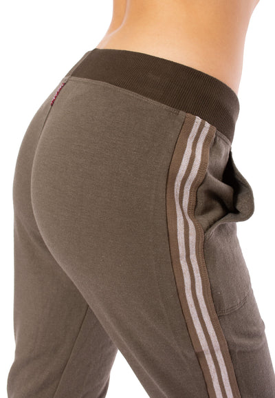 Hard Tail Forever - Fleece Capri Jogger W/Racer Stripe (CLO-16, Thyme) alt view 4