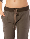 Hard Tail Forever - Fleece Capri Jogger W/Racer Stripe (CLO-16, Thyme) alt view 6