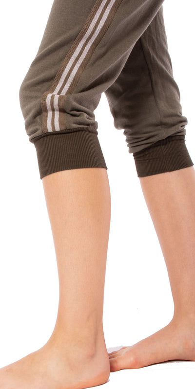 Hard Tail Forever - Fleece Capri Jogger W/Racer Stripe (CLO-16, Thyme) alt view 7