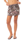Hard Tail Forever - Camo Two Pocket Elastic Waist Skirt (BURG-02, Blush Camo)