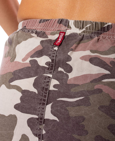 Hard Tail Forever - Camo Two Pocket Elastic Waist Skirt (BURG-02, Blush Camo) alt view 5