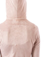 Hard Tail Forever - Velour Flair Sleeve Zip Hoodie (PANE-35, Rose) alt view 6