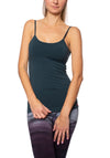 Strappy Low Back Tank W/Removable Pads (Style W-907, Dark Teal) by Hard Tail Forever