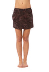 Hard Tail Forever - Elastic Waist Short Skirt W/Two Pockets (BURG-02, Mocha Camo)