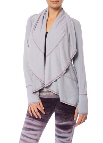 Hard Tail Forever - Swoop Fleece Jacket W/Thumbholes (CLO-13, Lavender)