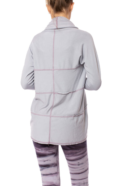 Hard Tail Forever - Swoop Fleece Jacket W/Thumbholes (CLO-13, Lavender) alt view 4