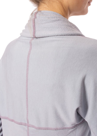 Hard Tail Forever - Swoop Fleece Jacket W/Thumbholes (CLO-13, Lavender) alt view 5