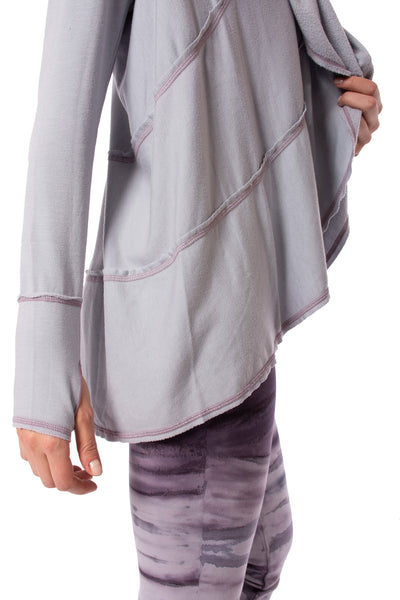 Hard Tail Forever - Swoop Fleece Jacket W/Thumbholes (CLO-13, Lavender) alt view 6