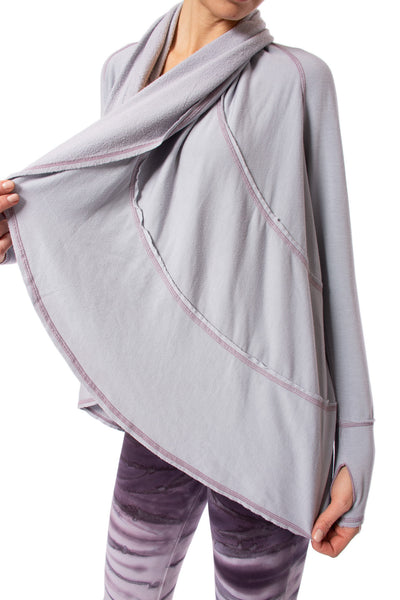 Hard Tail Forever - Swoop Fleece Jacket W/Thumbholes (CLO-13, Lavender) alt view 8