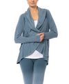 Hard Tail Forever - Swoop Fleece Jacket W/Thumbholes (CLO-13, Moon)
