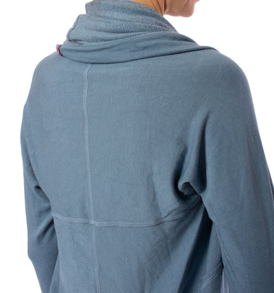 Hard Tail Forever - Swoop Fleece Jacket W/Thumbholes (CLO-13, Moon) alt view 3