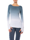 Hard Tail Forever - Supplex Lycra Long Sleeve Thumbhole Tee Shirt (SL-143, Ombre OMW6)
