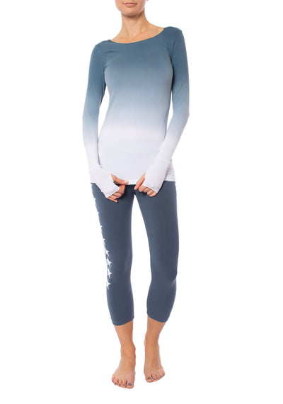 Hard Tail Forever - Supplex Lycra Long Sleeve Thumbhole Tee Shirt (SL-143, Ombre OMW6) alt view 7