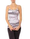 Hard Tail Forever - Strappy Low Back Tank W/Removable Pads (W-907, Tie-Dye SPOT2)