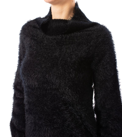 Tart Collections - Mock Nec Fuzzy Sweater (T80870, Black) alt view 4