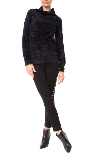 Tart Collections - Mock Nec Fuzzy Sweater (T80870, Black) alt view 8