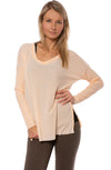 Bobi - Drop Shoulder Waffle Long Sleeve  (578-80702, Nectar)