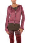 Hard Tail Forever - Velour Flare Sleeve Zip Hoodie (PANE-35, Dusty Rose)