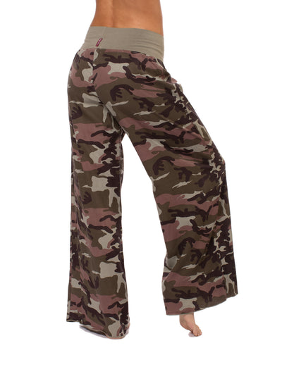 Hard Tail Forever - Full Leg Camo Flat Knit Waist Pant (BURG-04, Camping Camo) alt view 2