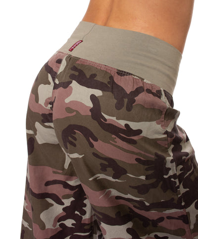 Hard Tail Forever - Full Leg Camo Flat Knit Waist Pant (BURG-04, Camping Camo) alt view 3