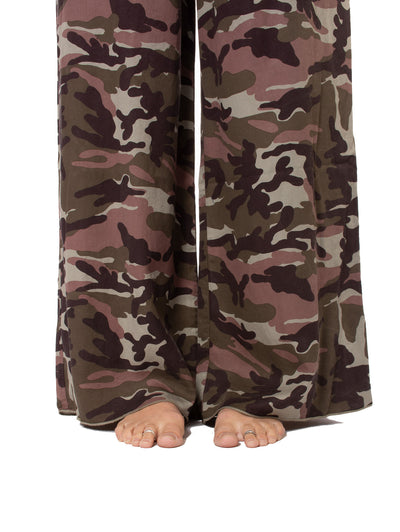 Hard Tail Forever - Full Leg Camo Flat Knit Waist Pant (BURG-04, Camping Camo) alt view 5