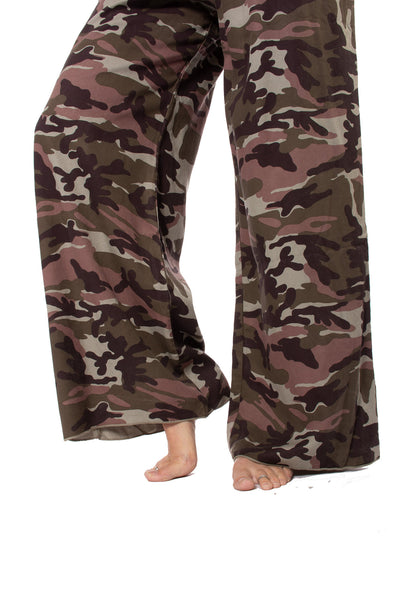 Hard Tail Forever - Full Leg Camo Flat Knit Waist Pant (BURG-04, Camping Camo) alt view 6