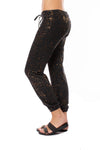 Hard Tail Forever - Slim Sweat Pants W/Copper Splatter (HEAT-35-SP3, Black w/Copper Splatter) alt view 6
