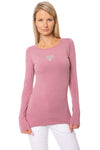 Hard Tail Forever - Supima/Lycra Long Sleeve Scoop Tee  (SL-69-911, Dust)